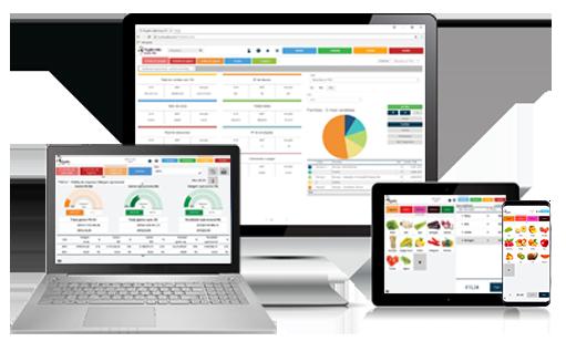 Software PingWin MBA em diferentes dispositivos móveis e fixos