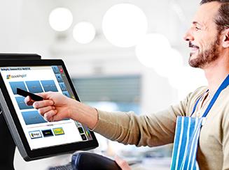 Ecrã do Booking All no software de ponto de venda